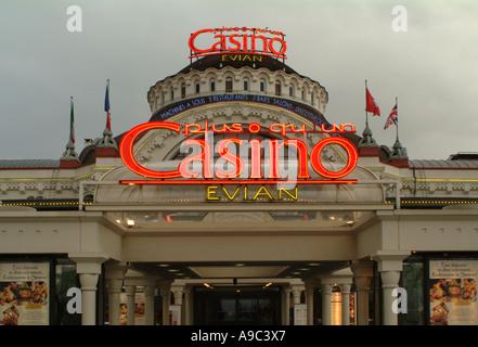 Evian. Casino. Savoie. France - Stock Photo