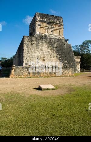 Chichen Itza Yucatan Great Ballcourt detail Mexico - Stock Photo