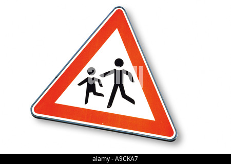 Traffic sign, close-up - Stock Photo