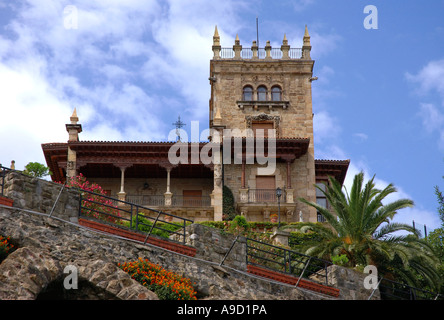 Characteristic Building of Santander Cantabria Bay of Biscay Golfo de Vizcaya Spain España Iberia Europe - Stock Photo