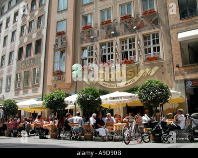 the DONISL in munich in the weinstrasse - Stock Photo