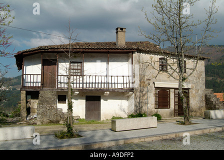 view of a rural house in ribeira de pena portugal stock photo
