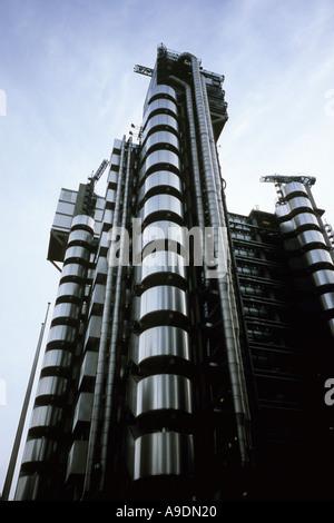 Lloyds Building designed by the architect Richard Rogers Partnership London England - Stock Photo