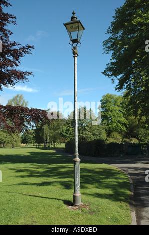 Lamp post in parkland Beacon Park Lichfield Staffordshire England - Stock Photo