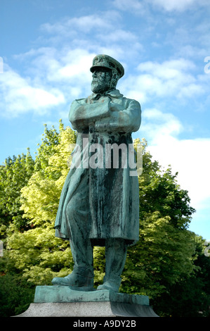 Statue of Captain Smith Master of The Titanic standing in Beacon Park Lichfield Staffordshire England - Stock Photo
