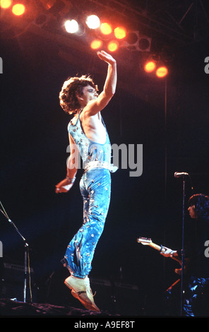 Mick Jagger, in one of his leaps, a legend in his lifetime, formed The Rolling Stone with Keith Richards in 1963 - Stock Photo
