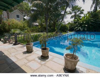 Hemingway's house swimming pool Key West - Florida - US - USA - United States of America - Stock Photo