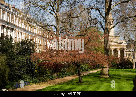 Eaton Square, private gardens. St Peters Church, Belgravia. City of  Westminster London SW1. England. HOMER SYKES - Stock Photo