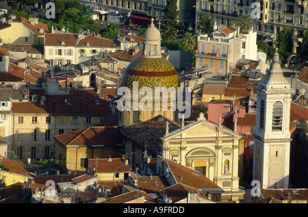 cathedral Sainte-Rparate, built 1650 in barock style, France, Provence-Alpes-Cte d'Azur, Nice. - Stock Photo