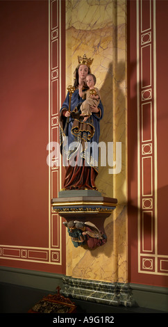 Statue of the Blessed Virgin Mary with the Child Jesus, St Francis Xavier Church, Hereford, England - Stock Photo
