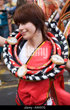 Costumed Carnival dancer in London - Stock Photo