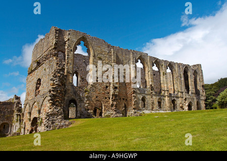 Easby Abbey in Richmond Yorkshire England - Stock Photo