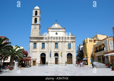 The Trimartyri Cathedral of Chania, Crete, Greece - Stock Photo