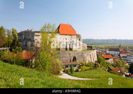 Tittmoning castle, Upper Bavaria, Germany - Stock Photo