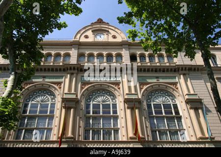 spain Barcelona Ramblas opera fassade - Stock Photo