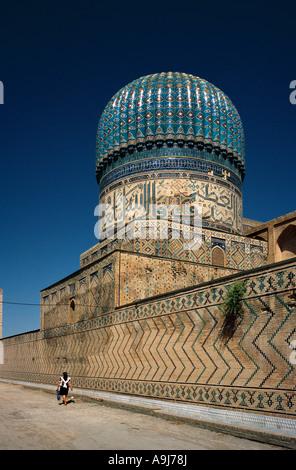 Bibi Khanym Mosque in the Uzbek city of Samarkand. - Stock Photo