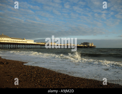 Victorian amusement pier on the seafront of Brighton Sussex - Stock Photo