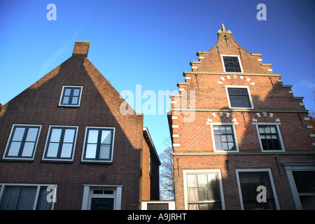 The Dutch village of Monnickendam Noord Holland The Netherlands - Stock Photo