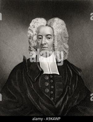 Cotton Mather, 1663 - 1728. American Puritan minister. - Stock Photo