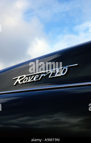Rover P4 110. Built 1962 to 64. English car manufacturer 1904 on. Rover car auto badge marque British maker motif - Stock Photo