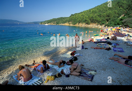 beach near Valun Cres island - Stock Photo