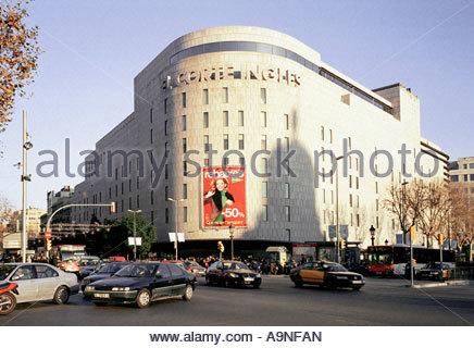 View of el corte ingles in plaza de la concordia salamanca spain stock photo royalty free - El corte ingles stores ...