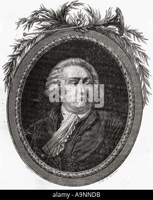 Honoré Gabriel Riqueti, Comte de Mirabeau, 1749 - 1791. French revolutionary statesman. - Stock Photo
