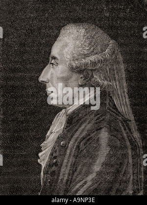 Jean Sylvain Bailly, 1736 - 1793.  French astronomer, mathematician, freemason and political leader of the early - Stock Photo