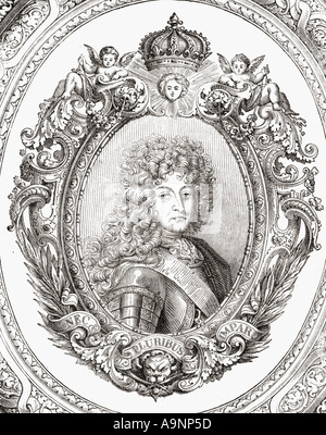 Louis XIV, Louis Dieudonné, aka Louis the Great or The Sun King,  1638 - 1715.  King of France and Navarre. - Stock Photo