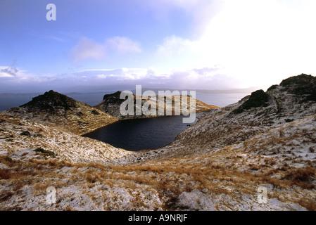 Mountains around old man of Storr, Isle of Skye - Stock Photo