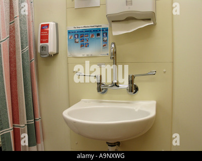 Wall Mounted Alcohol Hand Gel Dispenser Stock Photo