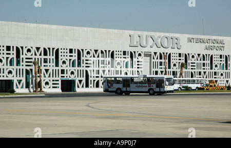 Luxor airport terminal buildings, Egypt - Stock Photo
