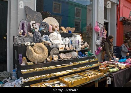 Portobello Road antiques market London England UK - Stock Photo