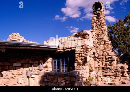 Lookout Studio, Grand Canyon National Park, South Rim, Arizona, USA - Stock Photo