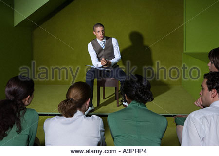 Colleagues in a seminar - Stock Photo