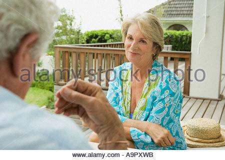 Portrait of a senior couple - Stock Photo