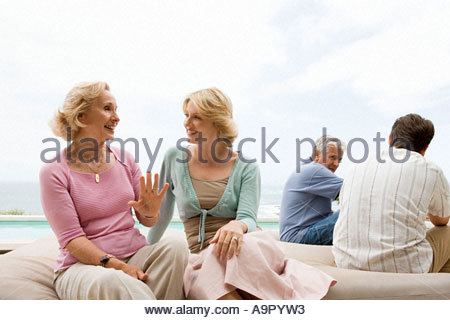 Portrait of four family members - Stock Photo