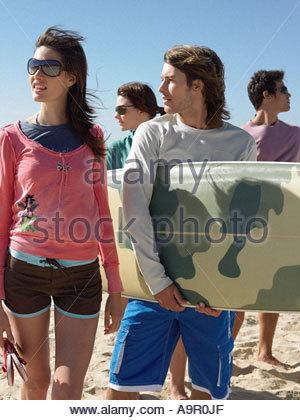 Surfer friends - Stock Photo