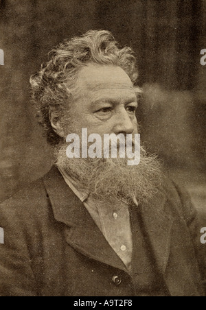William Morris 1834 -1896.  British textile designer, poet, novelist, translator, and socialist activist. - Stock Photo