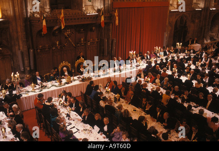 Lord Mayor of London banquet in the Guild Hall England UK. PHOTO HOMER SYKES - Stock Photo