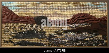 embroidery art needleowrk - Stock Photo