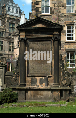 The Covenanters or Martyrs Memorial in Greyfriars Kirkyard, Edinburgh, Scotland, UK. - Stock Photo