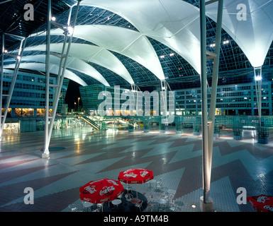 Franz Josef Strauss International Airport  Munich Bavaria Germany Europe. Photo by Willy Matheisl - Stock Photo
