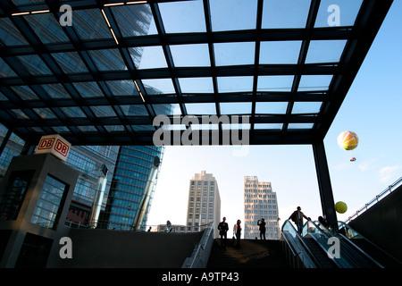 Berlin Potsdamer Platz tube station Beisheim Center - Stock Photo