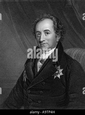 JOHANN WOLFGANG VON GOETHE  (1749-1832 German writer and scientist - Stock Photo
