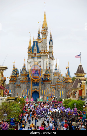Magic Kingdom at Walt Disney World Orlando Florida FL - Stock Photo