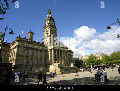 Bolton Town Hall and Square Greater Manchester UK - Stock Photo