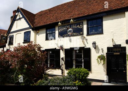 The Hinds Head Hotel, Bray, England, UK Stock Photo