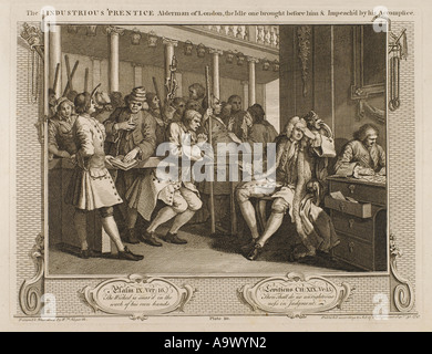 Hogarth Industry Idle 10 - Stock Photo
