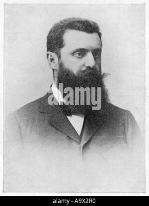 Theodor Herzl Postcard - Stock Photo